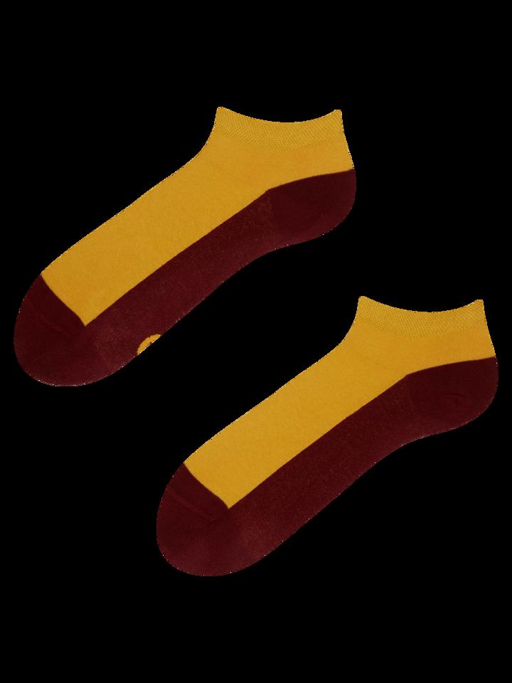 Výpredaj Horčicovo žlté členkové ponožky Stopa