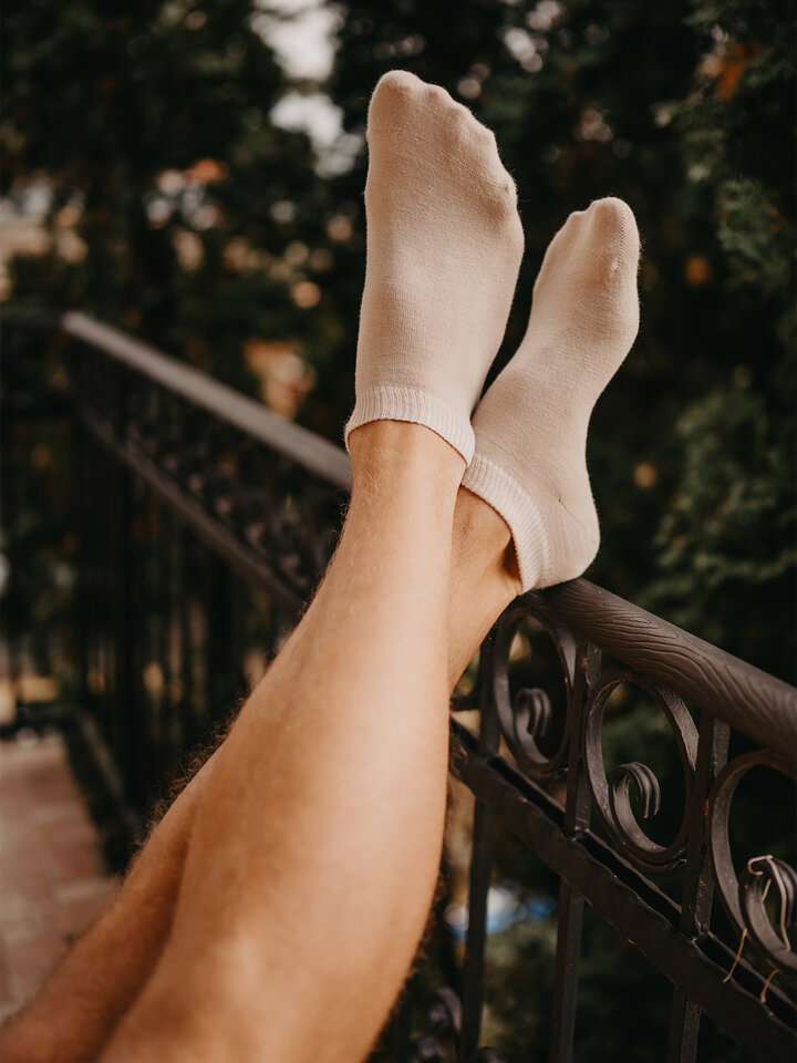 Sale Nude Bamboo Ankle Socks
