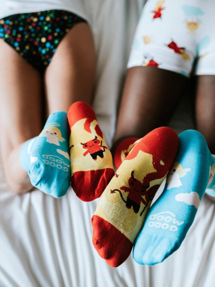 Pre dokonalý a originálny outfit Vrolijke sokken Engel en Duivel