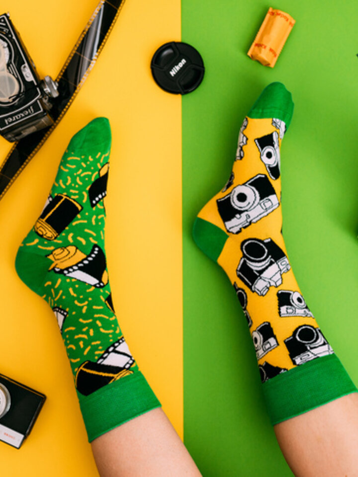 Lifestyle photo Good Mood Socks - Camera