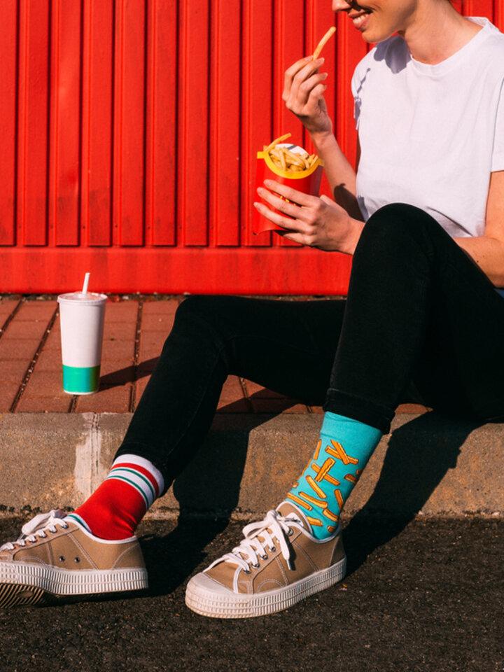 Obrázok produktu Vrolijke sokken - Frietjes met ketchup