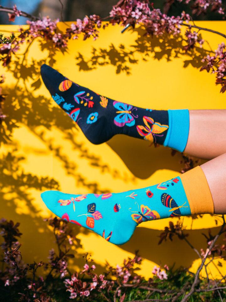 Obrázok produktu Vrolijke sokken Vlinders