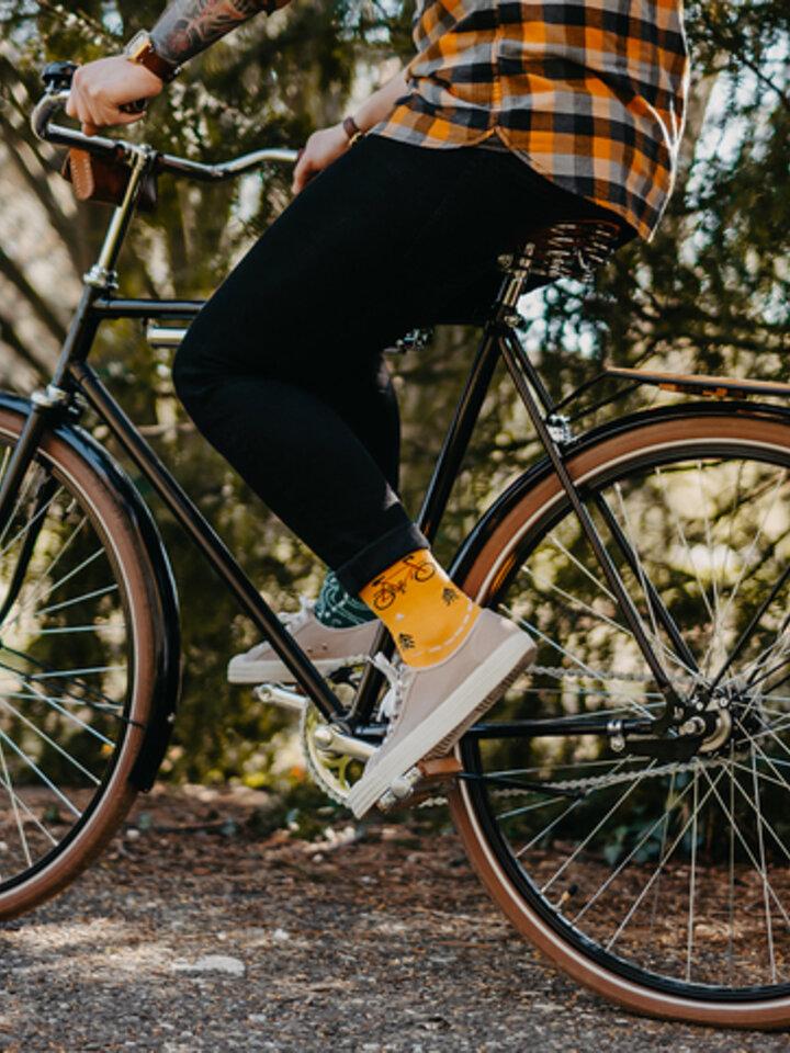 Lifestyle foto Veselé ponožky Na trase