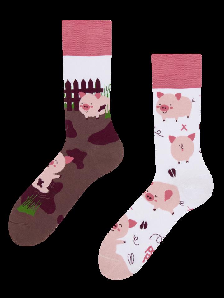 Tip na darček Veselé ponožky Šťastné prasiatka