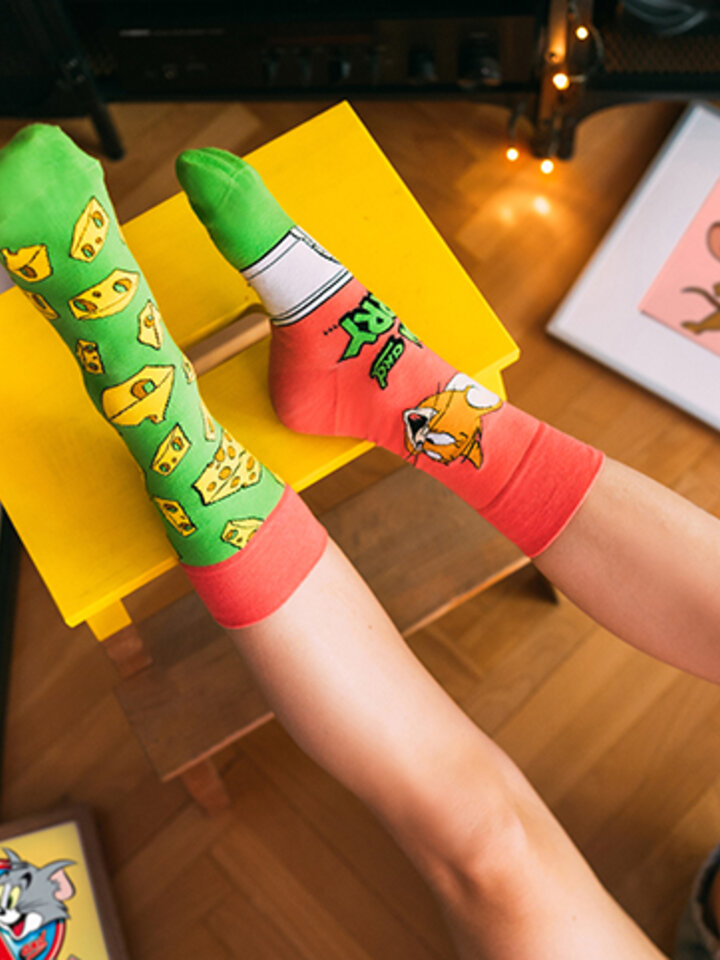 Original gift Tom and Jerry ™ Regular Socks Cheese