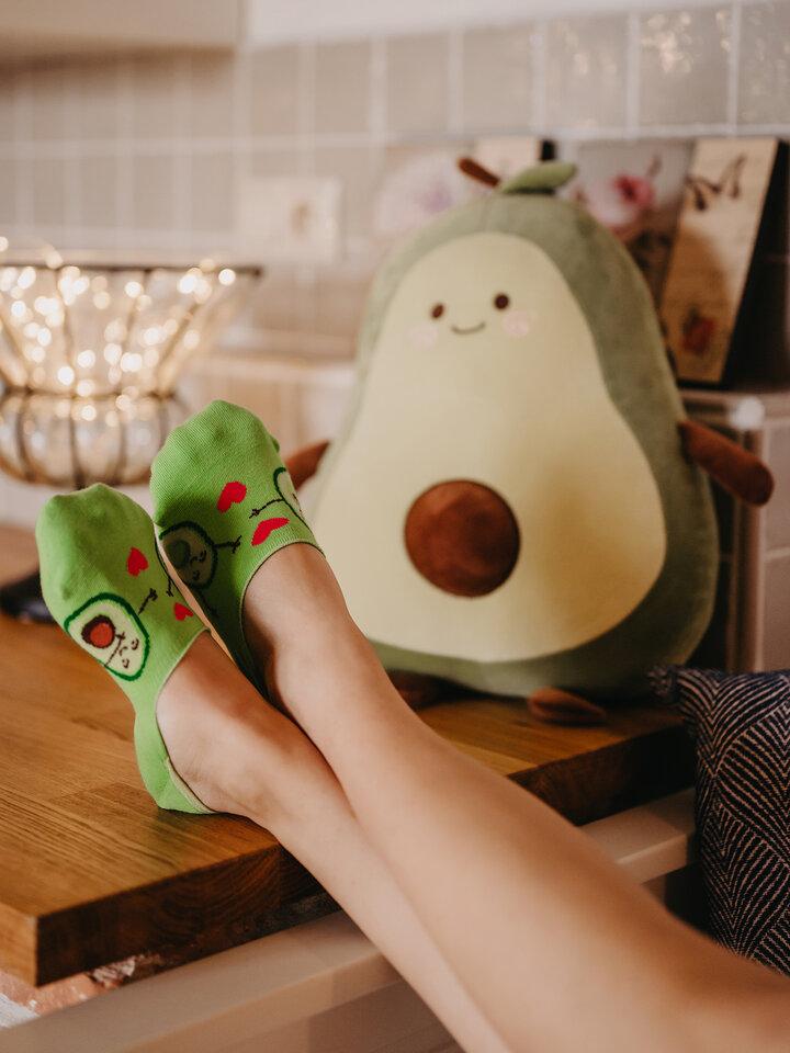 Sale No Show Socks Avocado Love