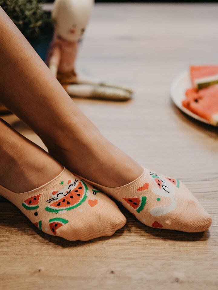 Original gift No Show Socks Watermelon Cat