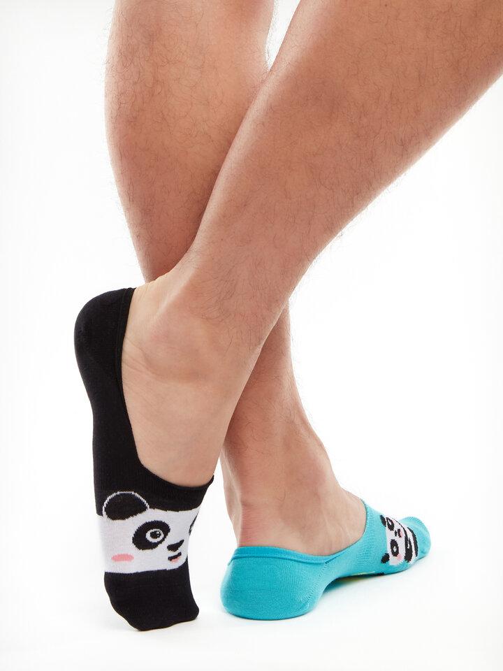 Výpredaj Živahne skrite nizke nogavice Panda