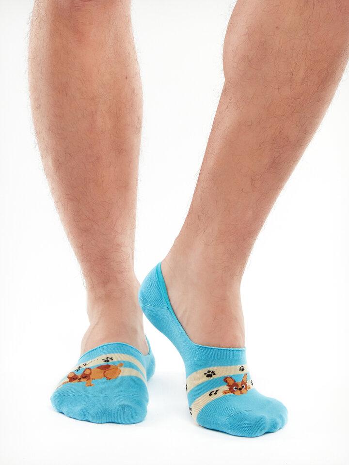 Pre dokonalý a originálny outfit Vesele niske stopalice Psi i pruge