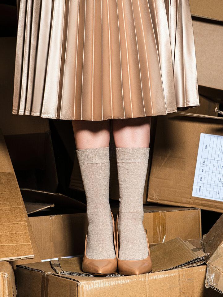 für ein vollkommenes und originelles Outfit Socken aus recycelter Baumwolle Sahara