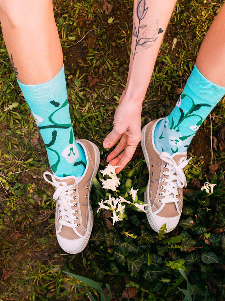 Gift idea Eco Friendly Socks Snowdrops
