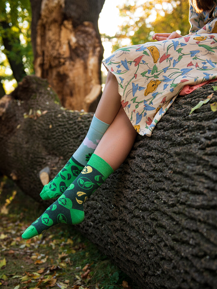 Pre dokonalý a originálny outfit Chaussettes rigolotes éco Plante ton arbre
