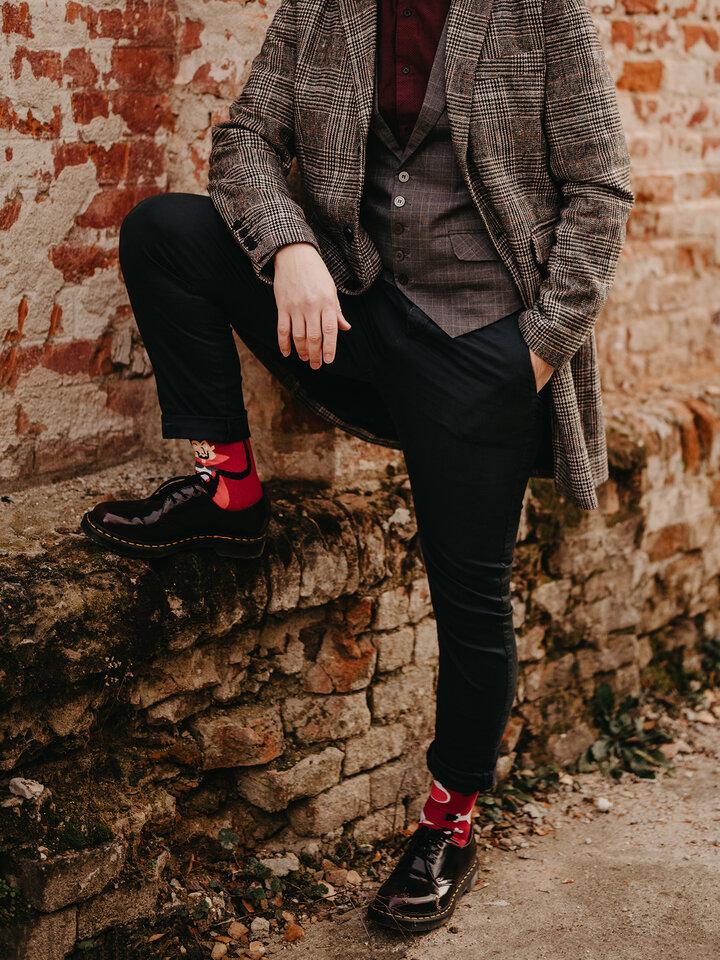 Potešte sa týmto kúskom Dedoles Vrolijke sokken Dracula