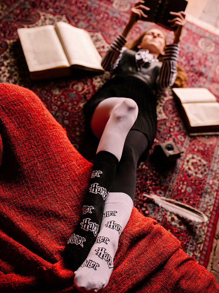 Sale Harry Potter Regular Socks ™ Black and White
