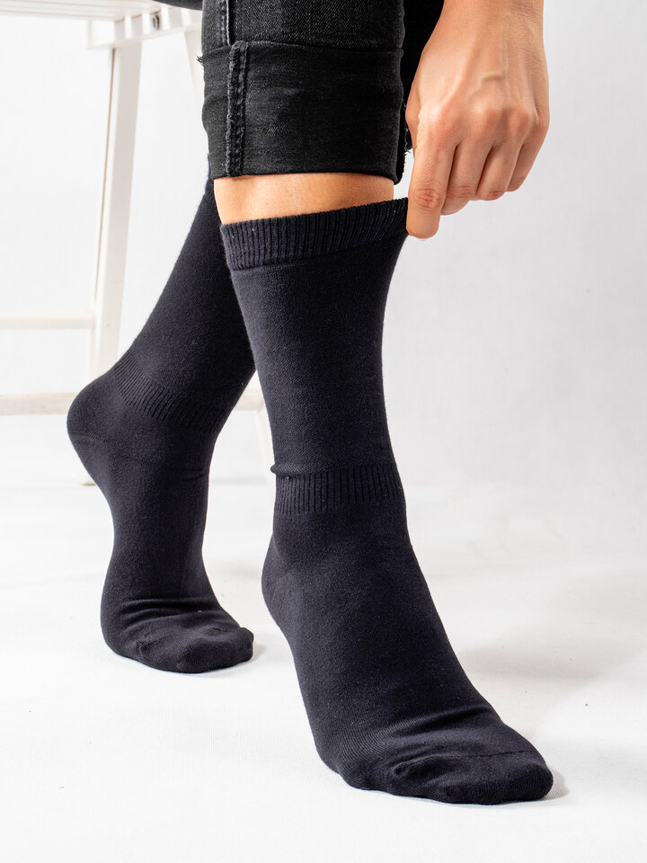 Sale Dark Blue Bamboo Socks Comfort