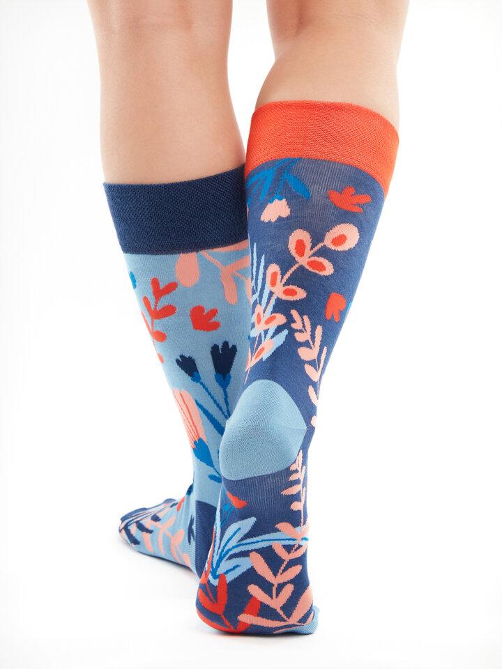 Výpredaj Veselé bambusové ponožky Koral