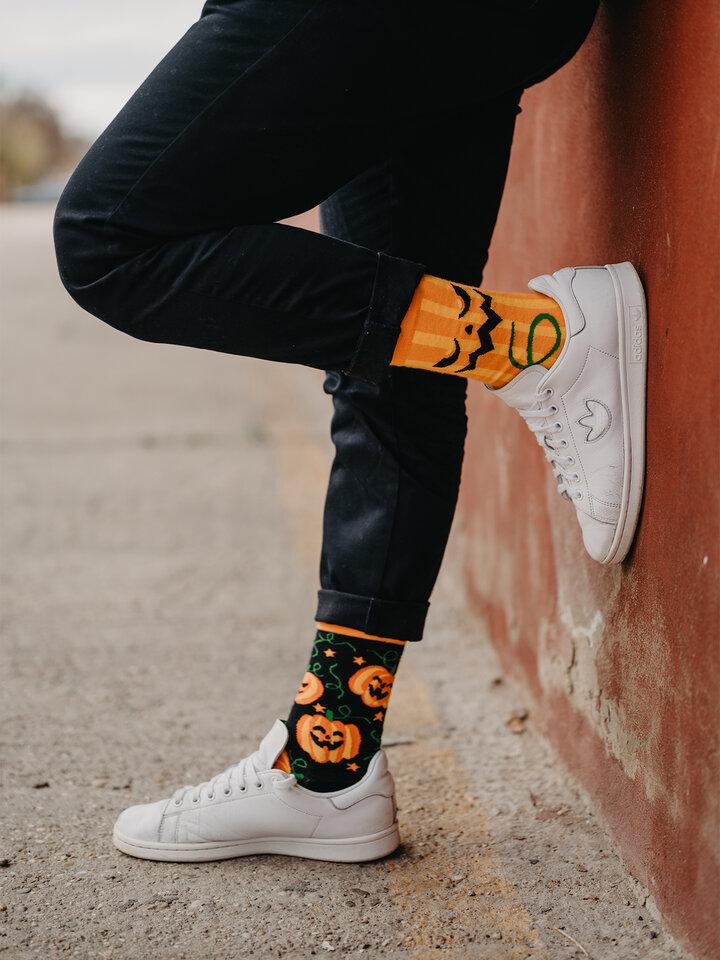 Obrázok produktu Veselé ponožky Halloweenska tekvica