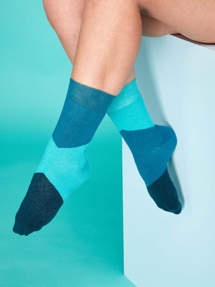 Výpredaj Tyrkysové ponožky Cik-cak