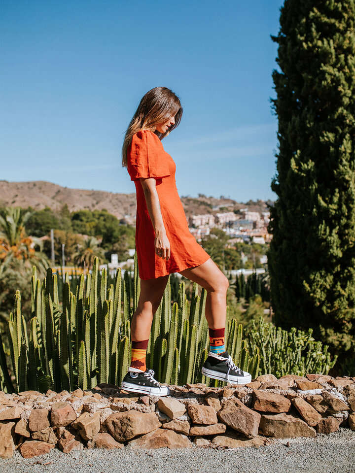 Pre dokonalý a originálny outfit Весели чорапи Африка
