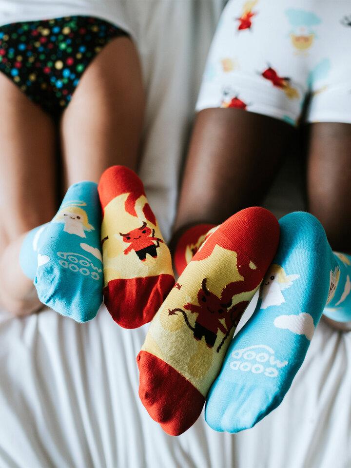 Original gift Regular Socks Angel & Devil