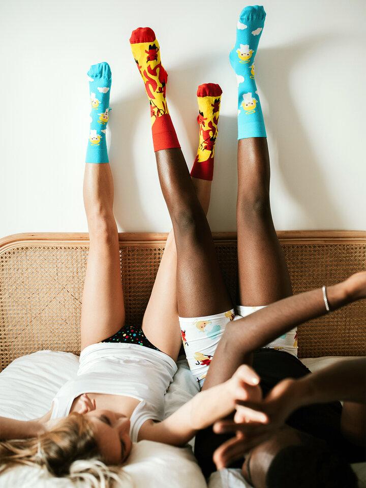 Obrázok produktu Vrolijke sokken Engel en Duivel