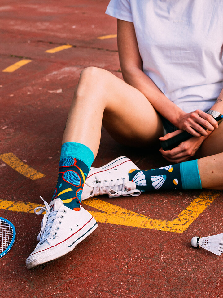 Looking for an original and unusual gift? The gifted person will surely surprise with Regular Socks Badminton