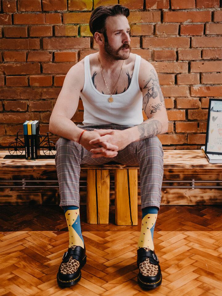 Pre dokonalý a originálny outfit Vrolijke sokken Bouldering
