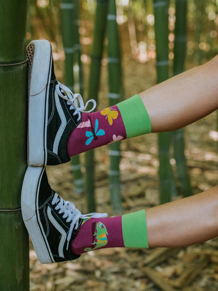 Obrázok produktu Vrolijke sokken Kameleon