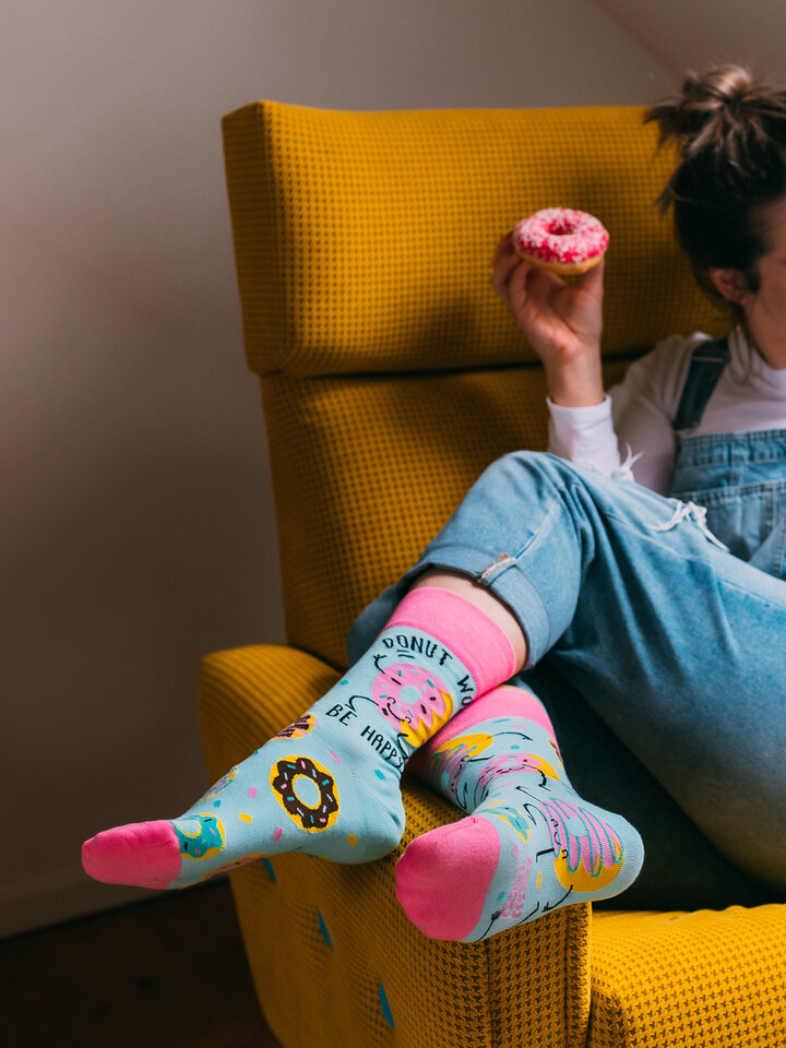 Pre dokonalý a originálny outfit Chaussettes rigolotes Donuts