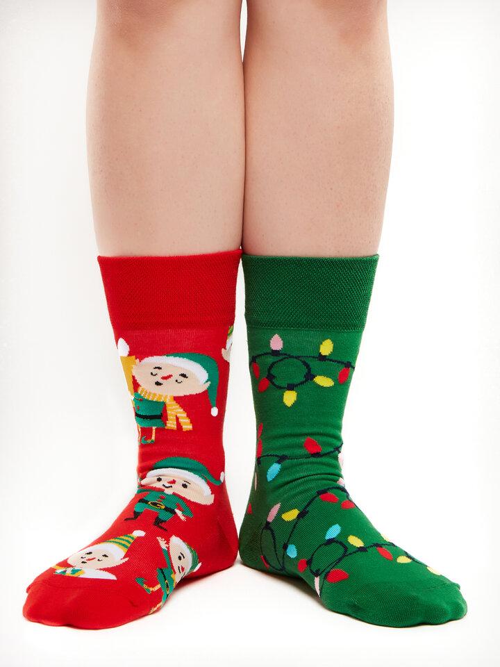 Obrázok produktu Vrolijke sokken Elfen