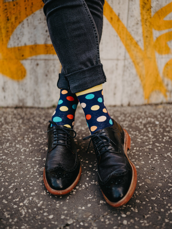 Sale Regular Socks Colourful Dots