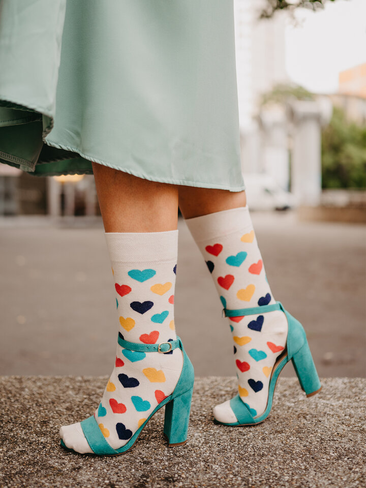 Foto Șosete Vesele Inimi colorate