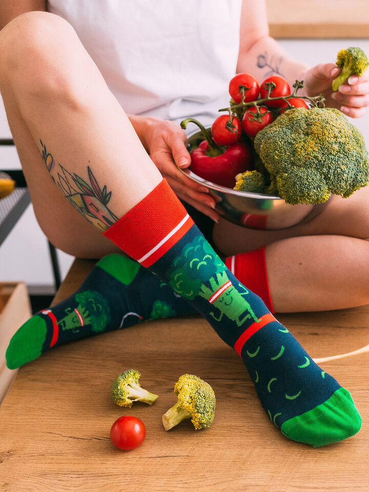 Sale Regular Socks Fit Broccoli