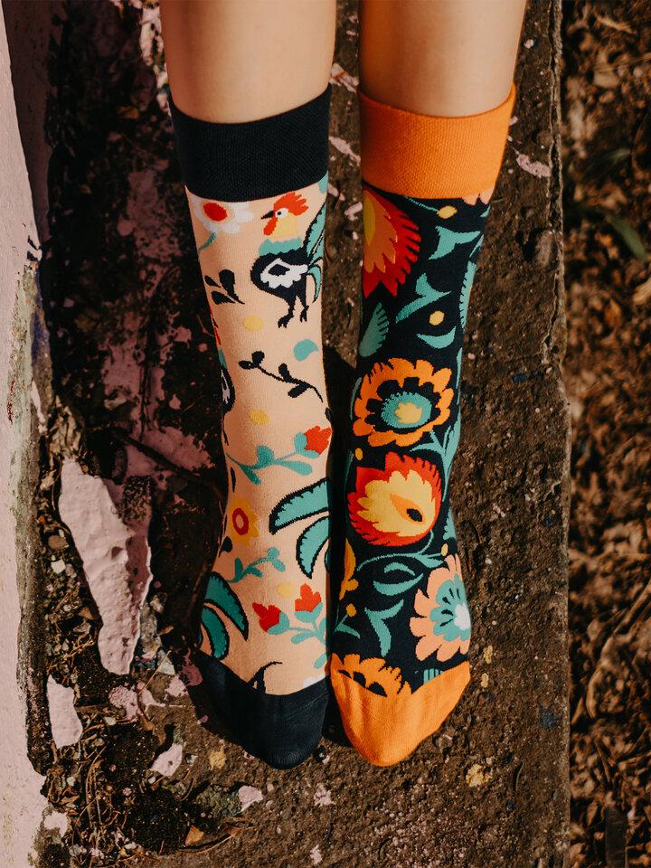 Pre dokonalý a originálny outfit Regular Socks Folk Rooster