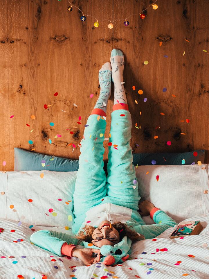 Lifestyle foto Vesele nogavice Samorog