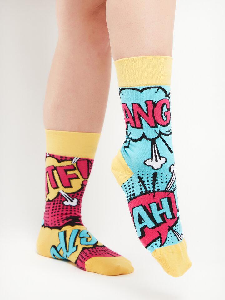 Tip na darček Vrolijke sokken Strip