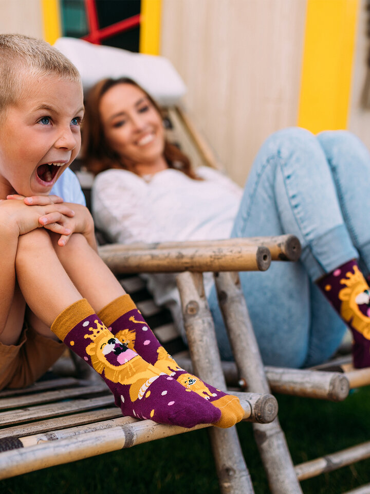 Lifestyle foto Vrolijke sokken - Koning van de jungle