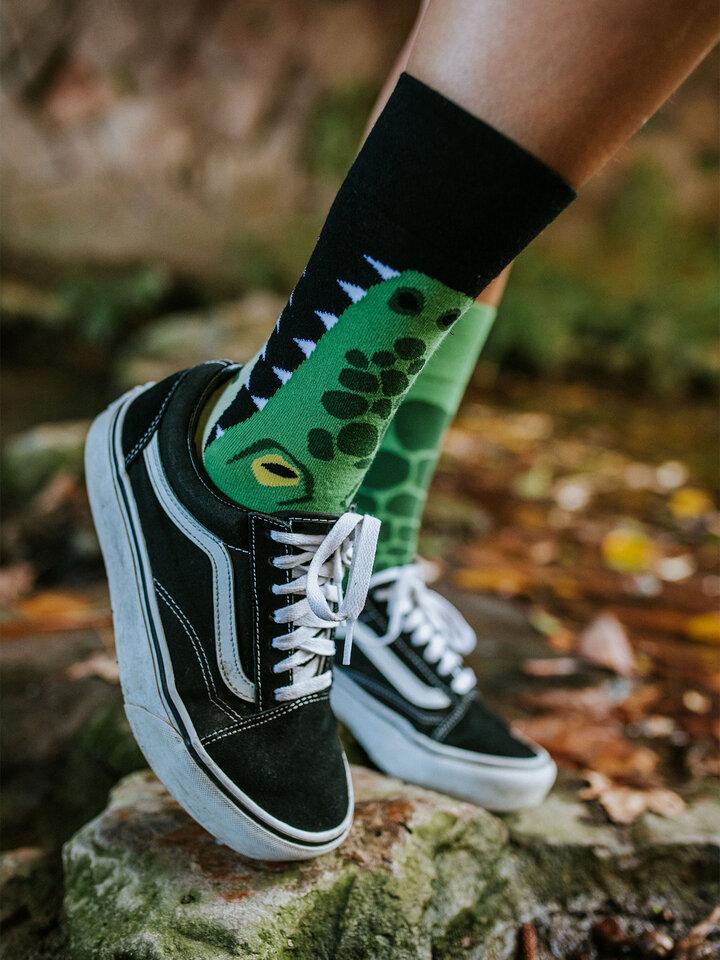 Potešte sa týmto kúskom Dedoles Vrolijke sokken Krokodil