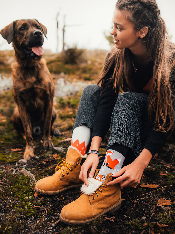 Obrázok produktu Vrolijke sokken Vos