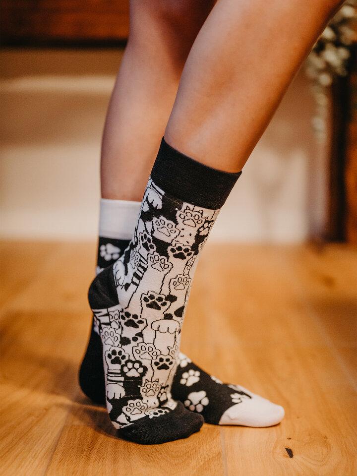 Výpredaj Vesele nogavice – mačje šape