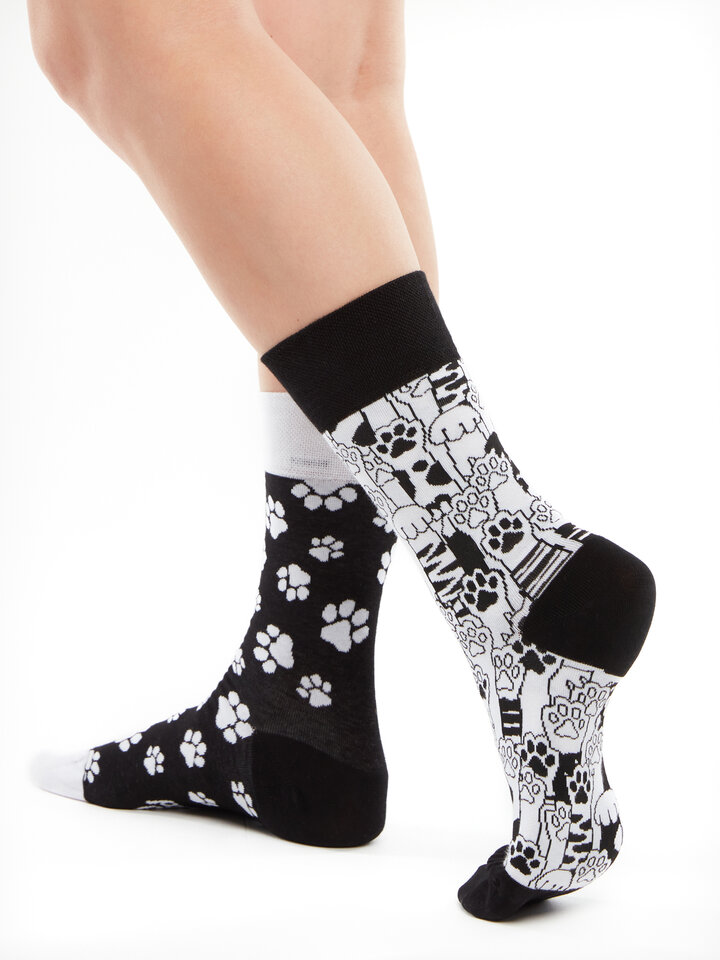 Sale Regular Socks Cat Paws