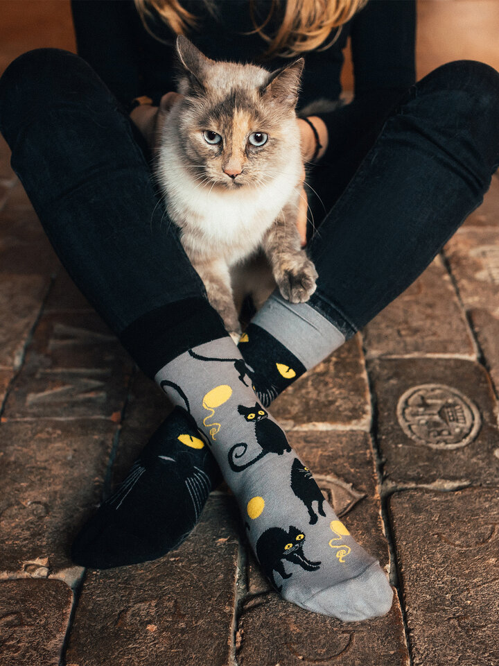 Sale Regular Socks Cat Eyes
