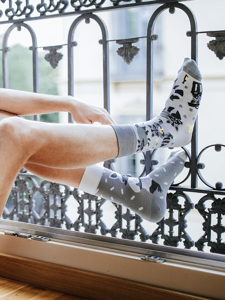 für ein vollkommenes und originelles Outfit Lustige Socken - Waschbär