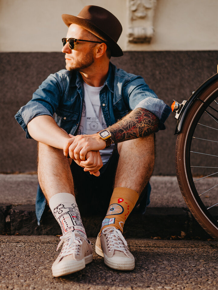 Obrázok produktu Chaussettes rigolotes Le vélo de ville