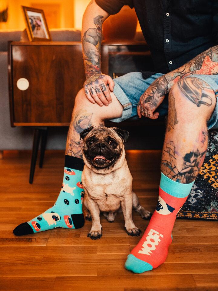 für ein vollkommenes und originelles Outfit Lustige Socken Mops