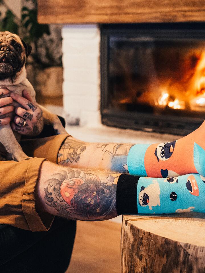 Sale Regular Socks Pug Life