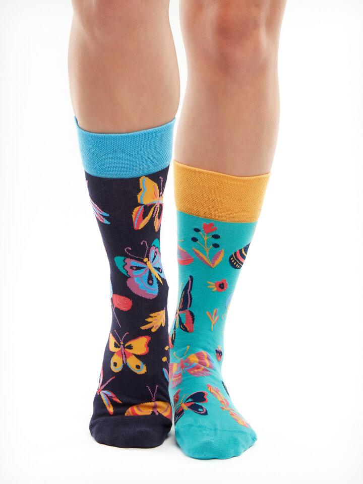 Pre dokonalý a originálny outfit Vrolijke sokken Vlinders