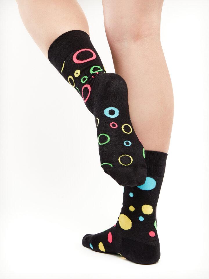 Gift idea Regular Socks Neon Dots