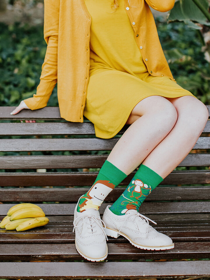 Lifestyle foto Vrolijke sokken Apen