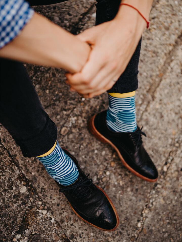 Lifestyle foto Vrolijke sokken - Optische illusie